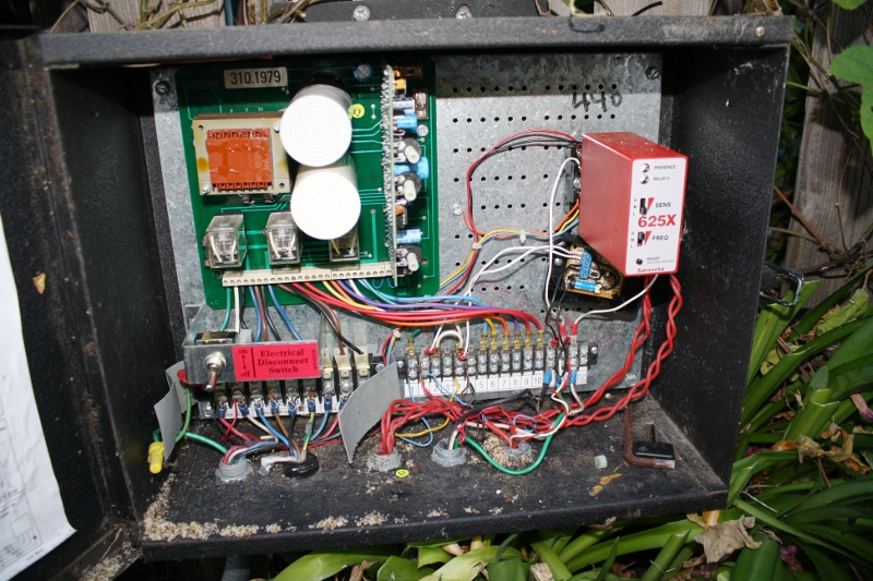 Gate controller box infested with ants