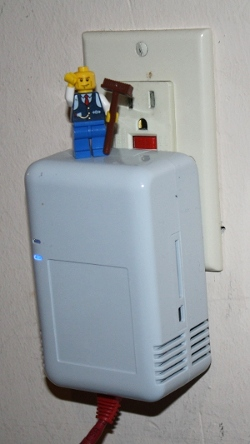 Lego Minifig on a Sheevaplug running IPv6